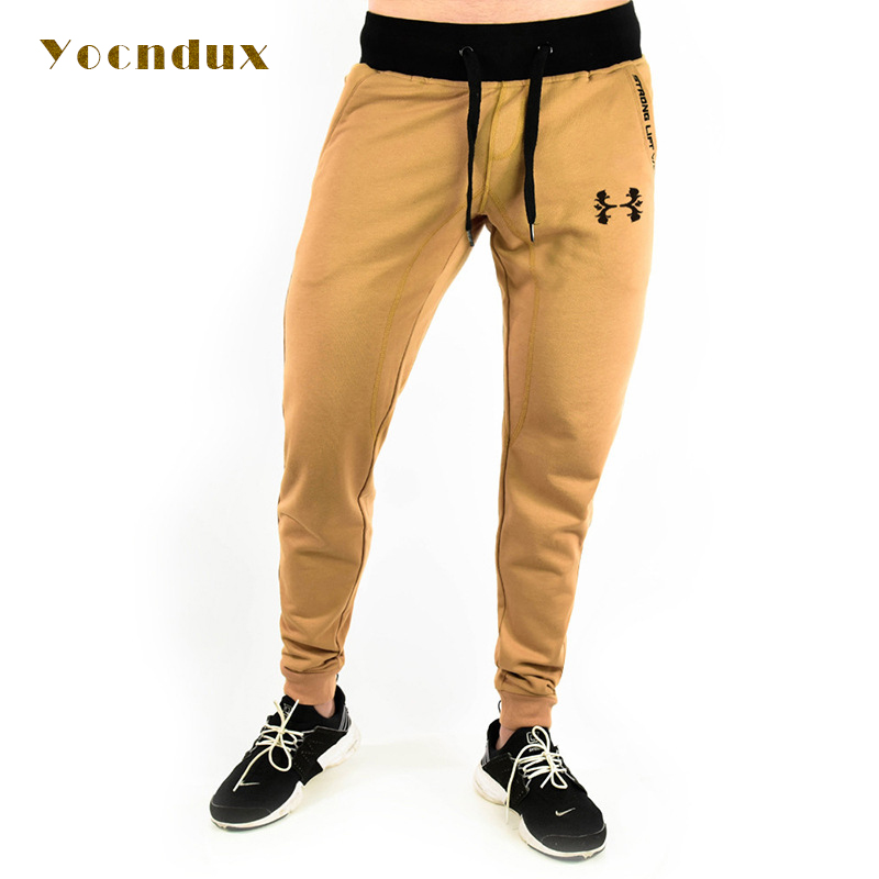 Yocndux 2017 Brand High Quality Jogger Pants Men Fitness Bodybuilding Gyms Pants For Runners Clothing Sweat Trousers Britches