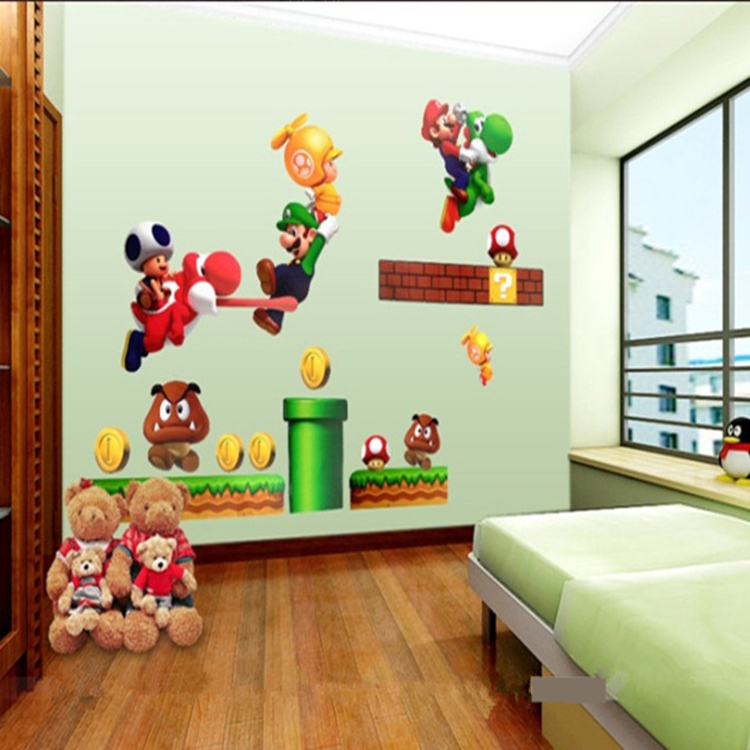 Super Mario Brothers Kids Room Decor Cartoon Child S Wall Stickers In From Home Garden On Aliexpress Alibaba Group