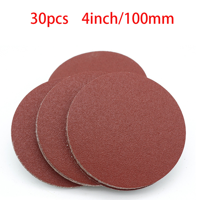 High quality 20pcs 4 Inch 100mm Round Sandpaper Disk Sand Sheets Grit 40 2000 Hook and Loop Sanding Disc for Sander Grits NEW