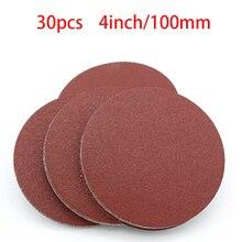 Hohe qualität 20 stücke 4 Zoll 100mm Runde Schleifpapier Disk Sand Blätter Grit 40 2000 Haken und Schleife schleifen Disc für Schleifer Grits NEUE