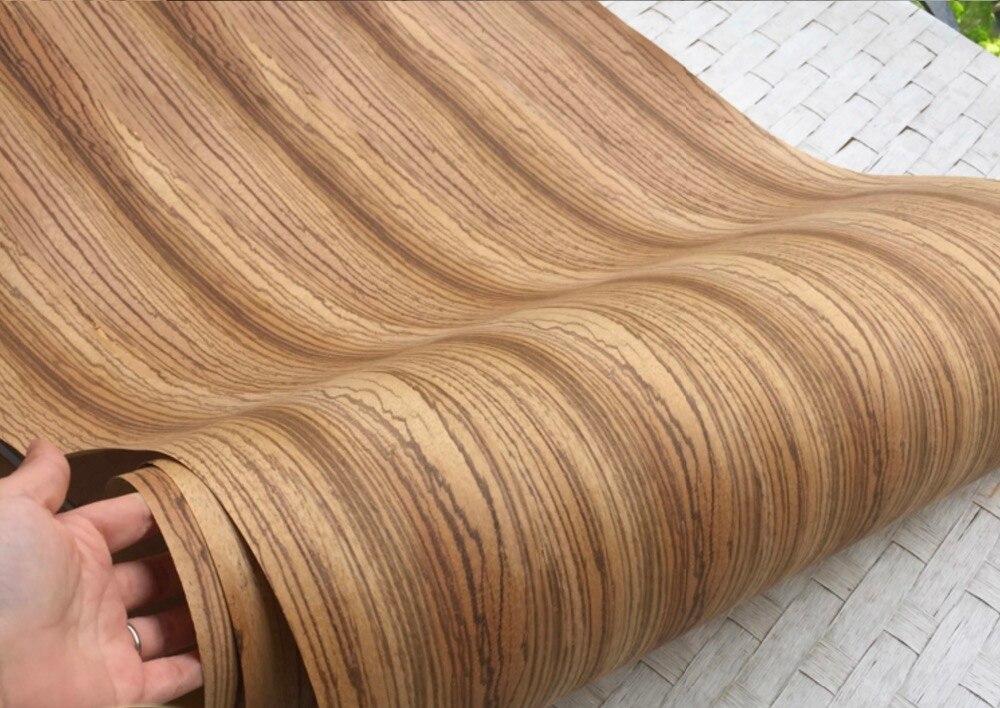 Length: 2.5 Meters   Width: 55cm Thickness:0.3mm Big Zebra Wood Veneer  Furniture Table Decorative(back Side:Kraft Paper)