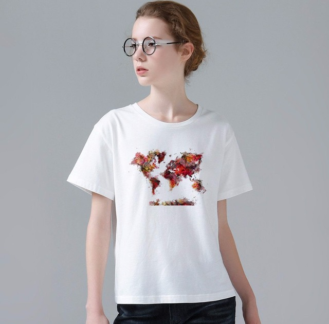 2017 summer novelty unique design t shirt women fashion furture 2017 summer novelty unique design t shirt women fashion furture world map printed tops hot sales gumiabroncs Images