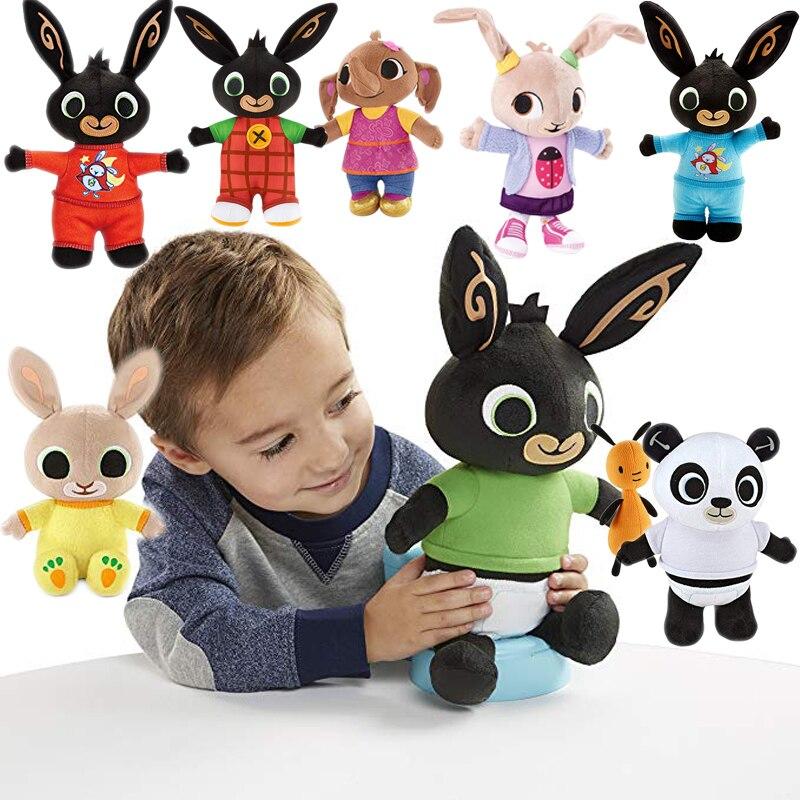 Echtes Bing Bunny Plüsch spielzeug sula flop Hoppity Voosh pando bing coco plüsch puppe peluche spielzeug kinder geburtstag Weihnachten geschenke
