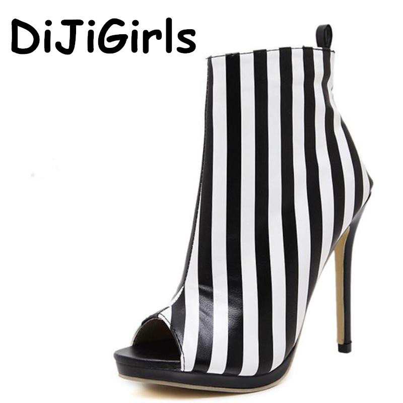 Women Pumps New Arrivals High Heels pearl Ankle strap Striped Sandals Sexy Open Toe high-top Boots zip Stiletto Shoes Woman winter autumn high quality pu high heels women sexy v mouth high top high heeled shoes ladies stiletto pumps ankle boots woman