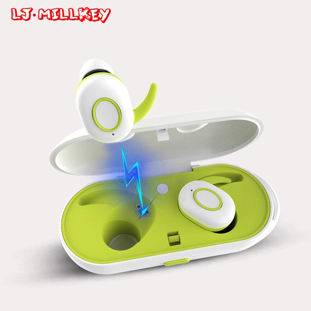 Фотография Touch Control Headset Hifi Stereo Earbuds Wireless Earphone Bluetooth Portable With Microphone Earphone TWS LJ-MILLKEY YZ111