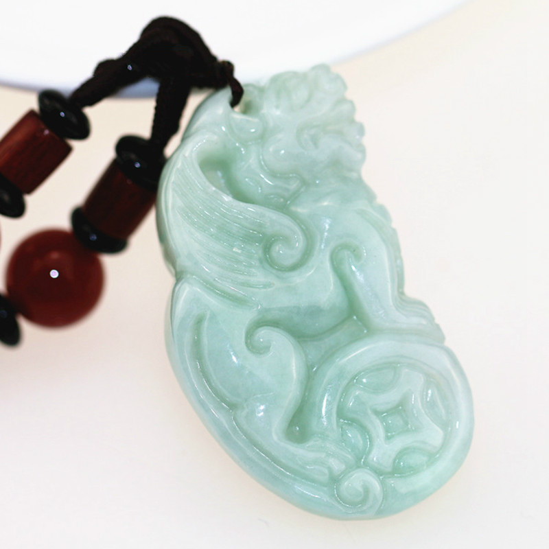 Pure manual sculpture god beast pendant restoring ancient ways Match hand woven rope necklace charm men and women