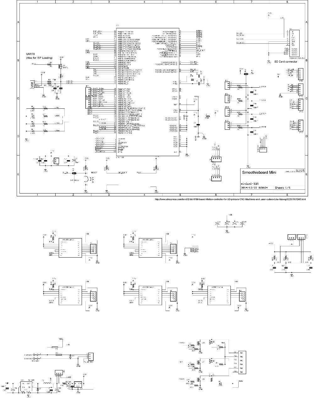 AZSMZ 32bit Ver2.1 ARM Controller für 3d drucker, CNC Maschinen ...