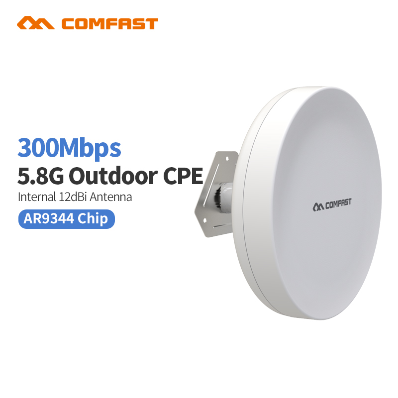 COMFAST CF-E211A Outdoor 5.8G wireless Router CPE 300M 802.11a/an Wifi Access Point Wi Fi bridge Repeater Signal Amplifier cpe outdoor cpe 5 8g wifi router 200mw 1 3km 300mbps wireless access point cpe wifi router with 48v poe adapter wifi bridge cf e312a