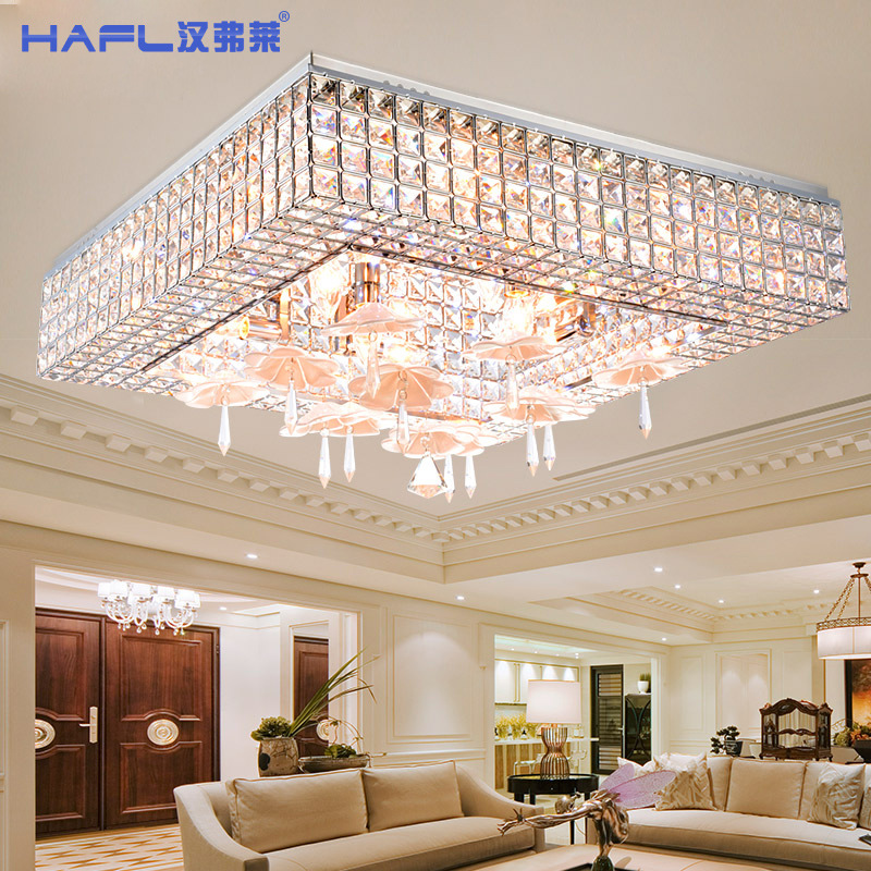 Square Led Living Room Ceiling Lights Lamp Is Modern Simple Hall Of The Crystal Bedroom Lamps And Lanterns Creative Restaurant