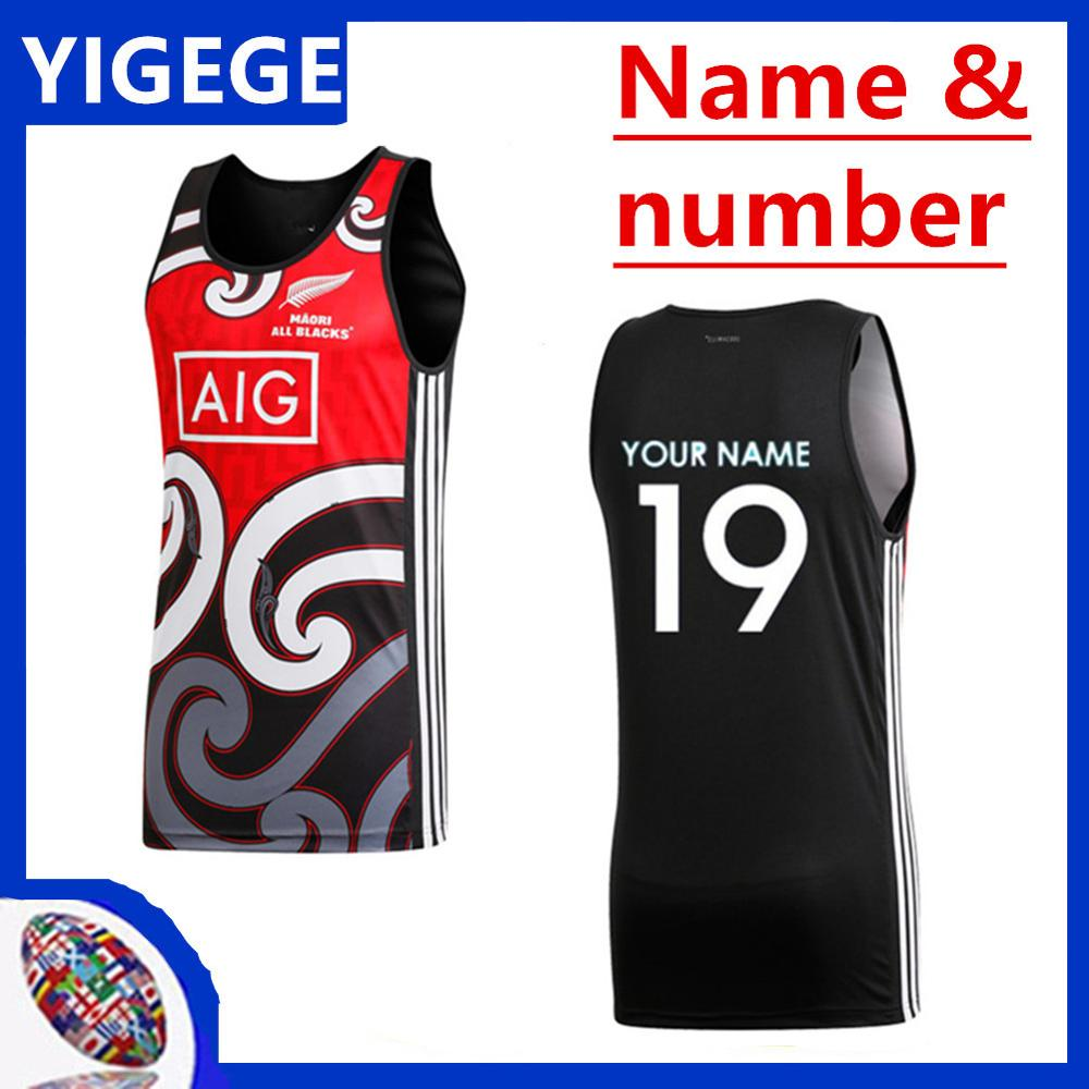 b3242c7898a 2019 -2020 NEW ZEALAND MAORI ALL BLACKS RUGBY JERSEY TRAINING SINGLET RUGBY  JERSEY size S-3XL-4XL-5XL (can print). US $21.00. SCOTLAND RUGBY 2018/19  HOME ...