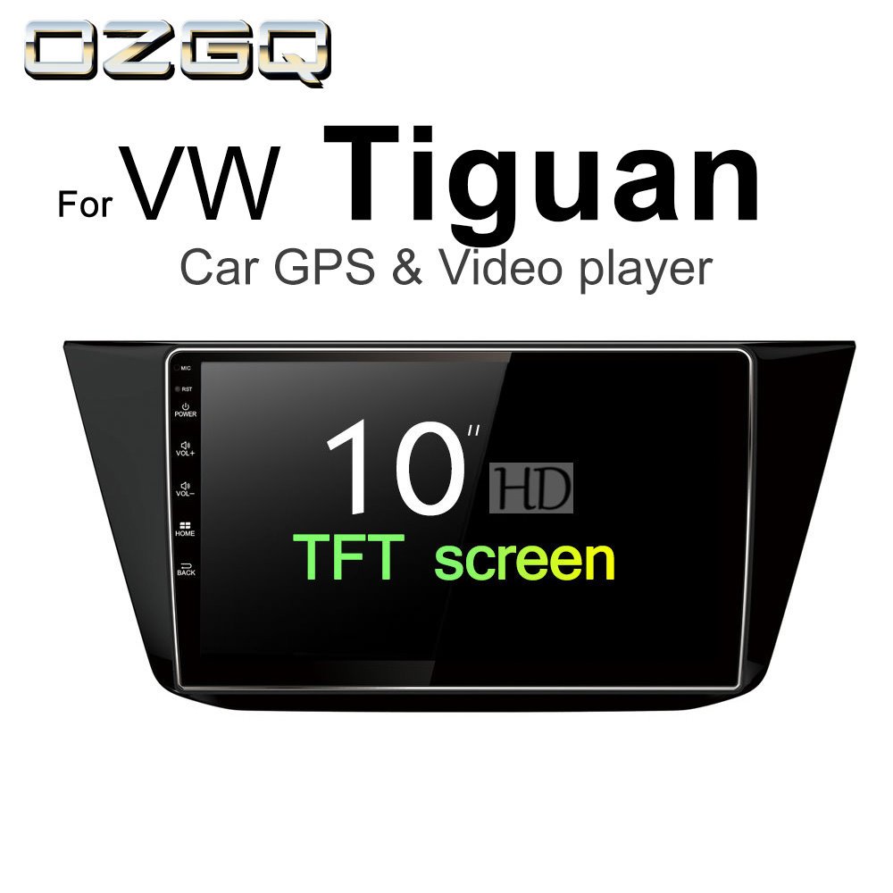 OZGQ Android 7.1 Car Player For VW Tiguan 2016 2017 2018 Screen Auto GPS Navigation Bluetooth Radio TV Audio Video Music Stereo цена