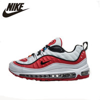 Nike Air Max 98 Original New Arrival Authentic Breathable Men Running Shoes Sport Outdoor Sneakers White Red Men Fund AJ6302 113
