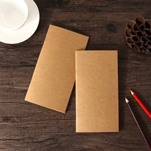 1pc/lot Blank Kraft Sketchbook 110mmx210mm Travelers Notebook Planner Memo Diary Standard Style Paper Book Party Gift