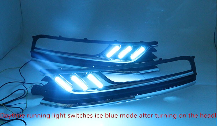 Светодиодные дневные ходовые огни eOsuns для Volkswagen VW Passat B7, беспроводной переключатель управления, тусклый контроль, высокое качество