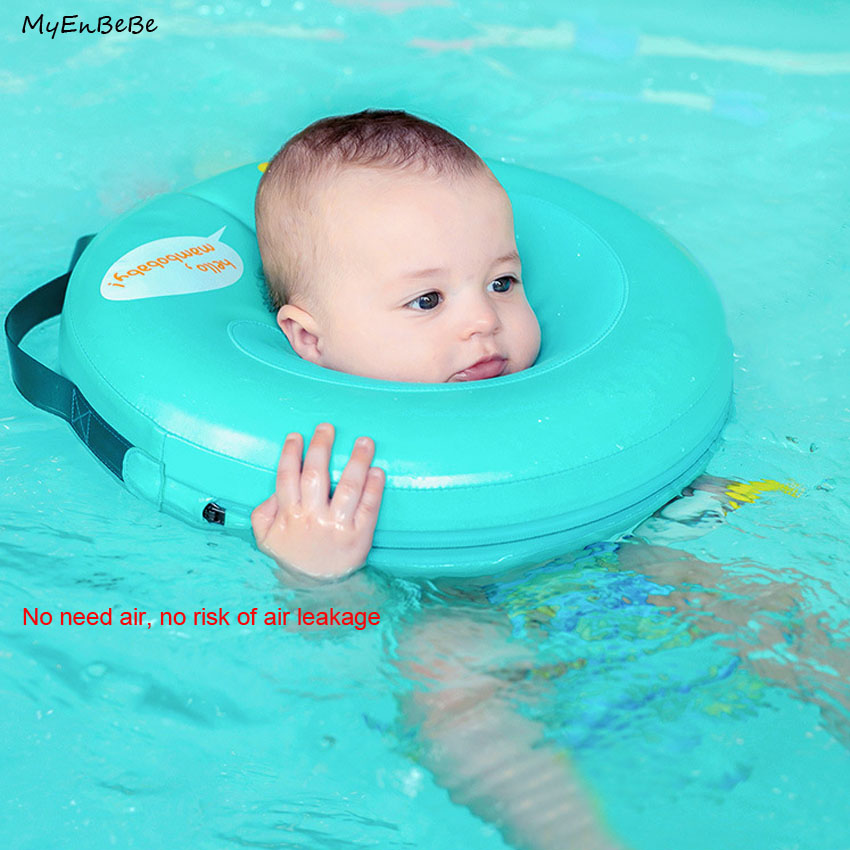 Safer Non Inflatable Baby Neck Swim Ring Circle High