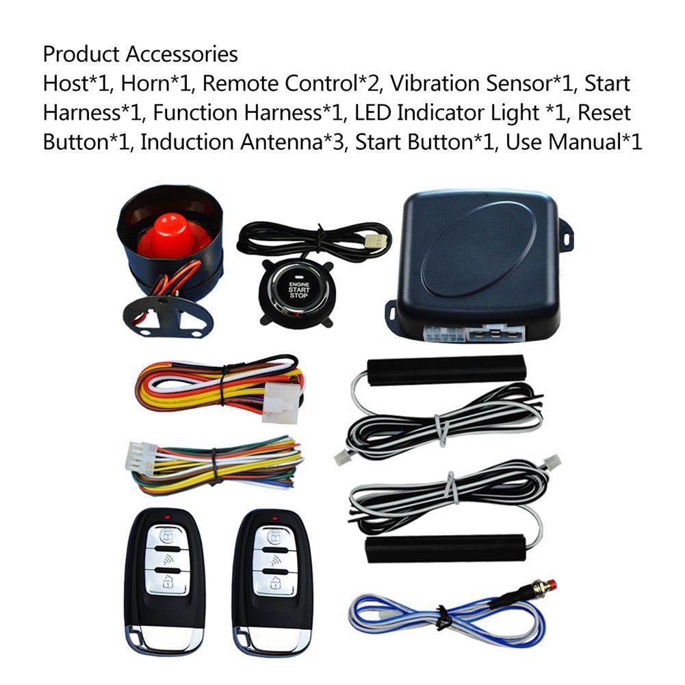 Auto Anti-vol alarme voiture confortable sans clé entrée un bouton démarrage système de contrôle à distance accessoires de voiture Automobile