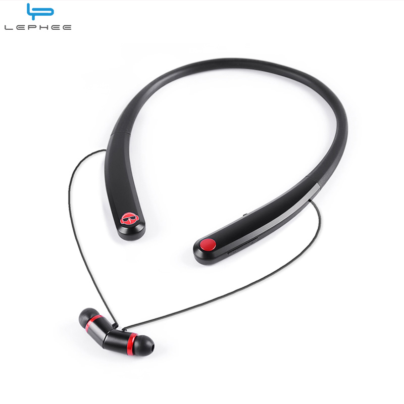 LEPHEE Bluetooth Earphone Headphone Magnet Headset Bluetooth Earphone Neckband Wireless