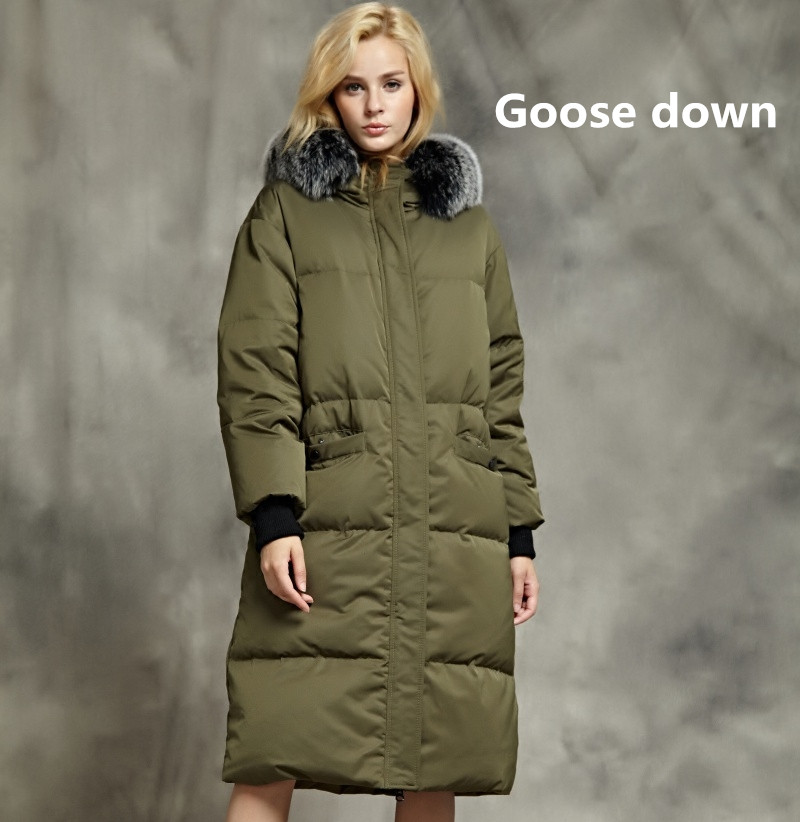 e0b9a355cde4 2019 fashion brand Winter good quality 90% real goose down coat female fox  fur collar