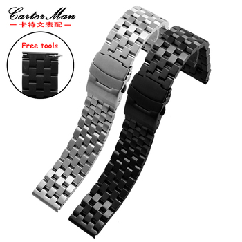 New Stainless steel watchband high quality 20mm 22mm for Samsung classic Gear S2 S3 | Ticwatch smart watch bracelet free tools