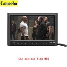 7 Pulgadas LCD MP5 Reproductor de Vídeo Del Coche Del Monitor Retrovisor Con Trasero CCD Cámara de visión Soporte transmisor FM SD USB Flash incorporado altavoz