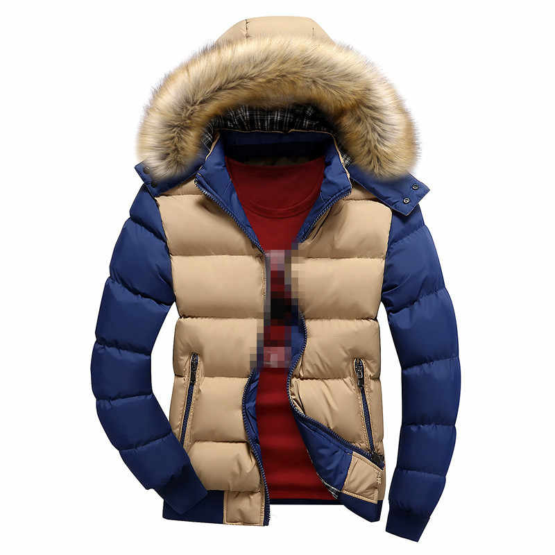 YG6002-A1421 2019 new autumn winter Korean version men's fashion hoodie thickened thermal cotton-padded jacket cheap wholesale