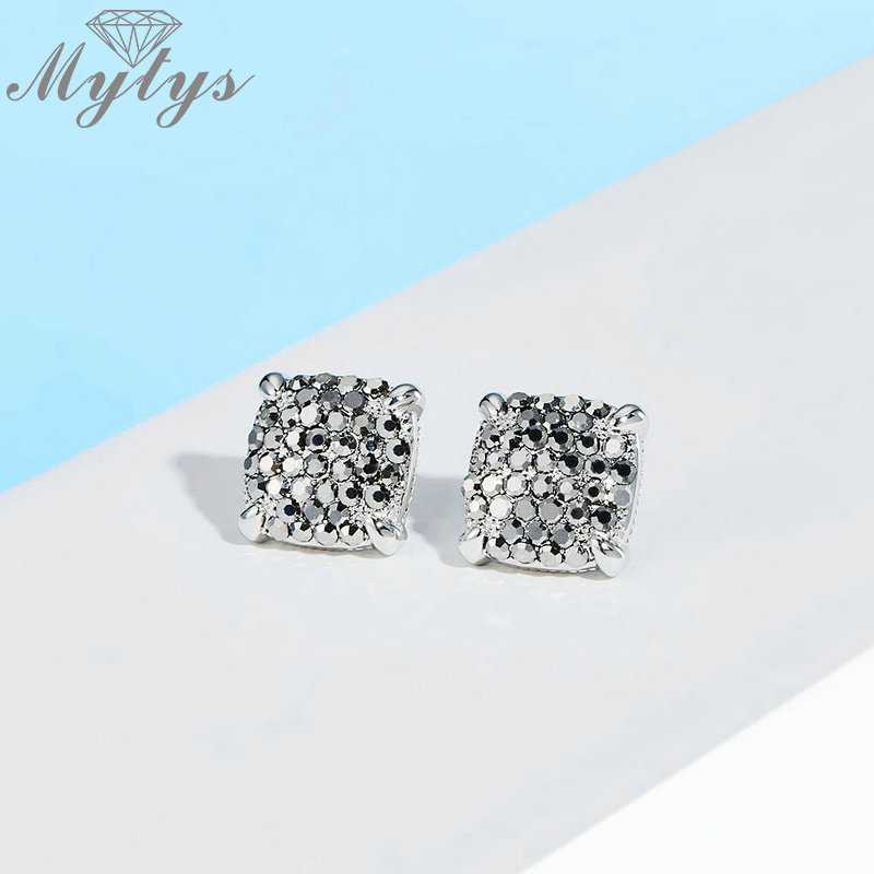 Sterling Silver Earring Small marcasite square stud New