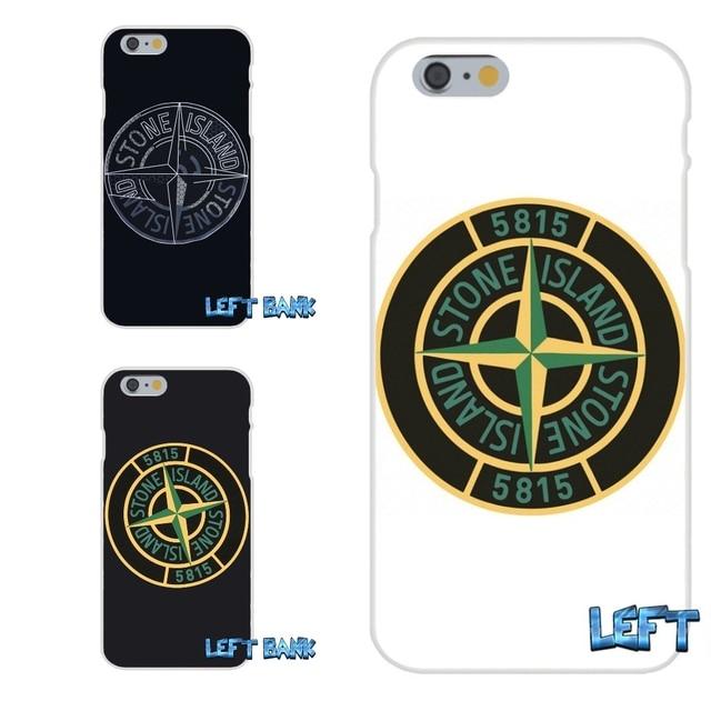 stone island logo soft silicone tpu transparent phone cover case for