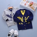 Падение роскошный бренд детской моды двойного слоя классический мультфильм мальчиков и девочек высокого качества трикотаж свитер топы SW01