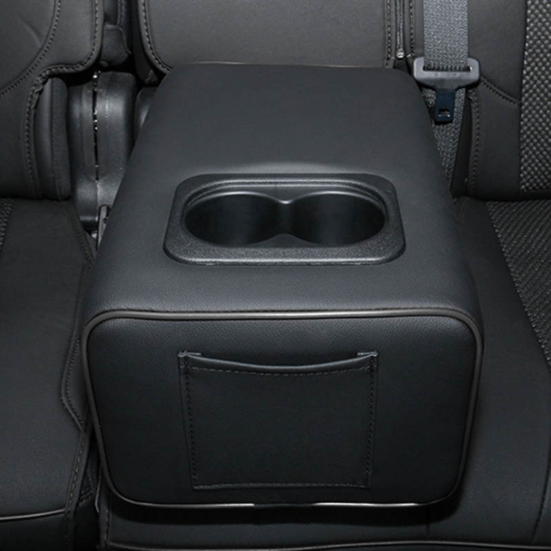 Second Row Rear Central Armrest Box W/ Cup Holder Arm Rest For Ford Explorer Car Accessories