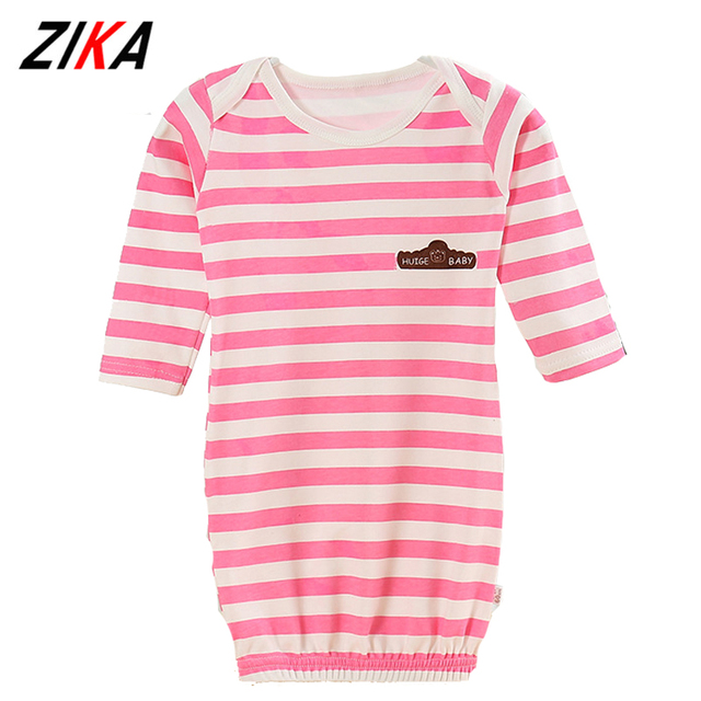 ZiKa New Baby Bathrobes For Children Baby Boys Girls Casual Home Clothes Long Sleeve Striped Infant Newborn Cotton Nightgowns