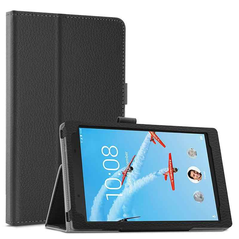 Voor Lenovo Tab 4 8 Plus 2017 Case Flip Litchi PU Leather Cover voor Lenovo Tab4 8 Plus TB-8704F TB-8704N folio Case Wake up/Sleep