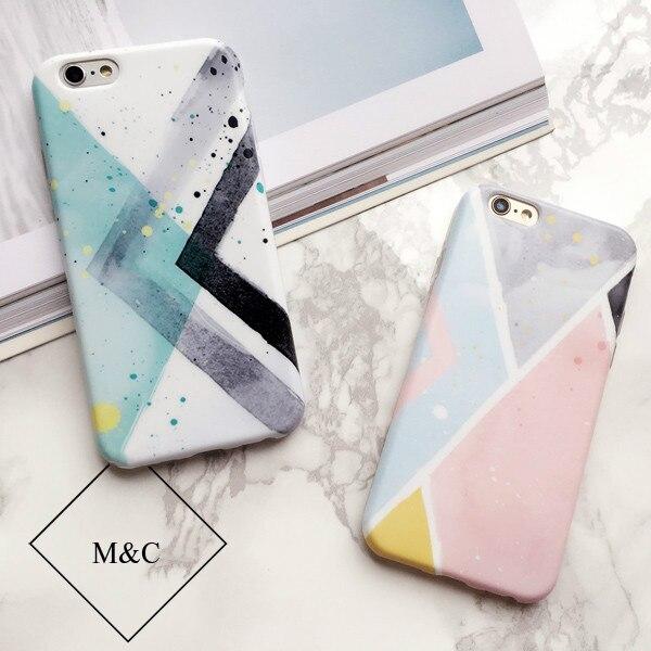 Moda Lindo de la acuarela pintura Para Apple iPhone 6 Más Caso Suave la Cubierta de silicona TPU para el iphone 6 s Plus Caso Coque girls Pink