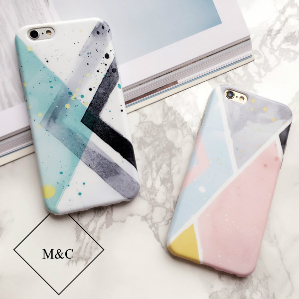 Moda lindo de la acuarela pintura para apple iphone 6 plus case soft la cubierta de silicona tpu para iphone 6s plus case coque girls pink
