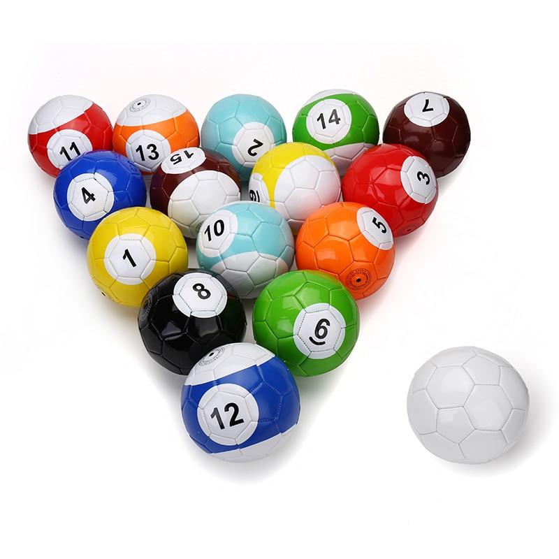 Size No 2 3 4 5 Billiard Snook Soccer Ball Football Full Set Gaint Snookball Snooker Street Game Sport Toy Poolball 16 Pcs