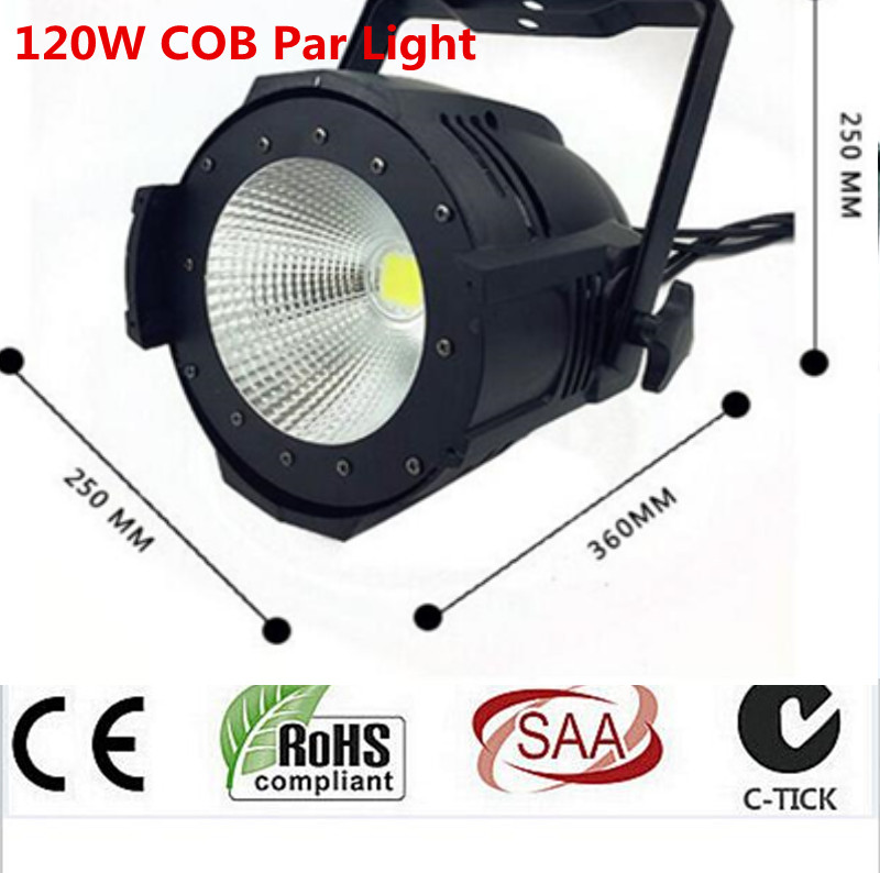 High quality 2in1 warm +cold white DMX LED 120W COB Par Stage Lighting dj light Dmx controll freeshipping 4pcs dmx 100w cob warm yellow warm white led dj par light 100 wart dmx512 control mater slave stage lighting effect