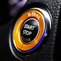 X-TRAIL Xtrail Car Key Ignition Switch Hole Decal Sticker Auto Start Stop Engine Button Sticker for Nissan Rogue Qashqai Teana