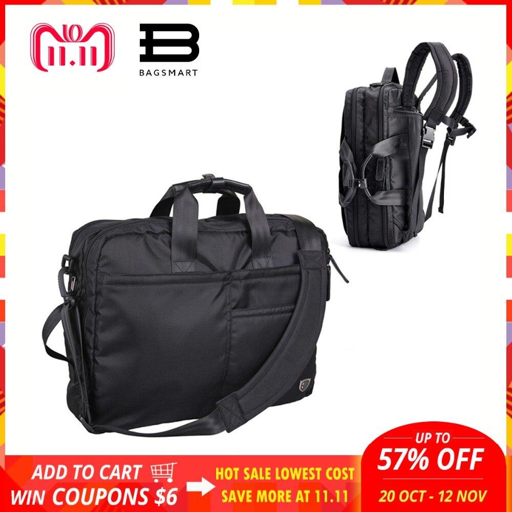 BAGSMART Multifunction Men Laptop Backpack Black Laptop Bag For 14-16 Inch Computer Polyester Laptop Backpack Bag Travel Bags