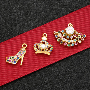 ZHUKOU High quality fashion High heel crown pendant for jewelry necklace earrings accessories model: VS452(China)
