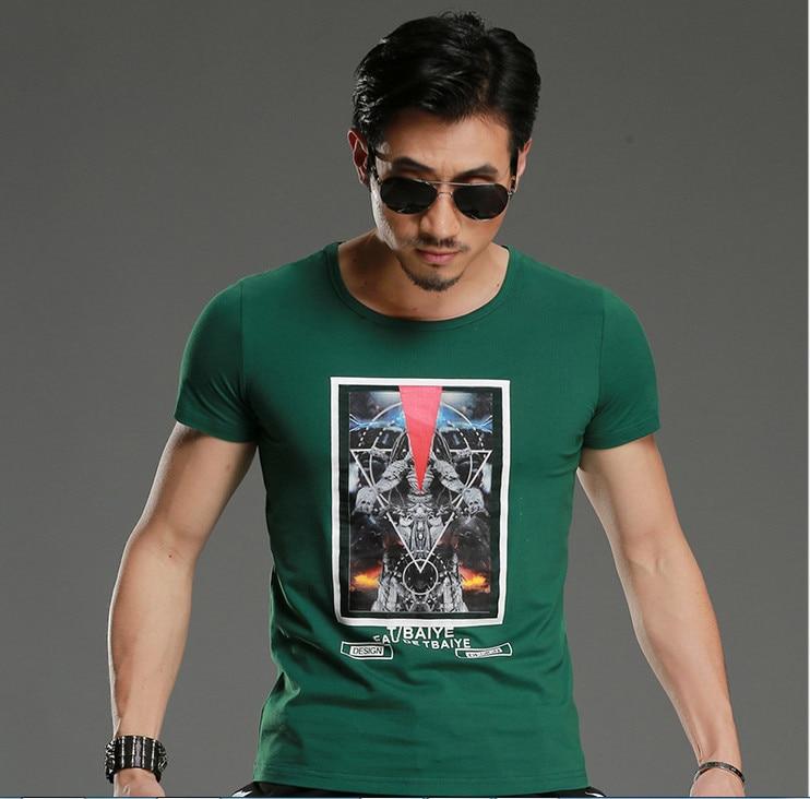 TBAIYE 2019 Rahat Lüks Pamuk Erkekler T-Shirt Marka Ince Kısa Kollu - Erkek Giyim - Fotoğraf 4