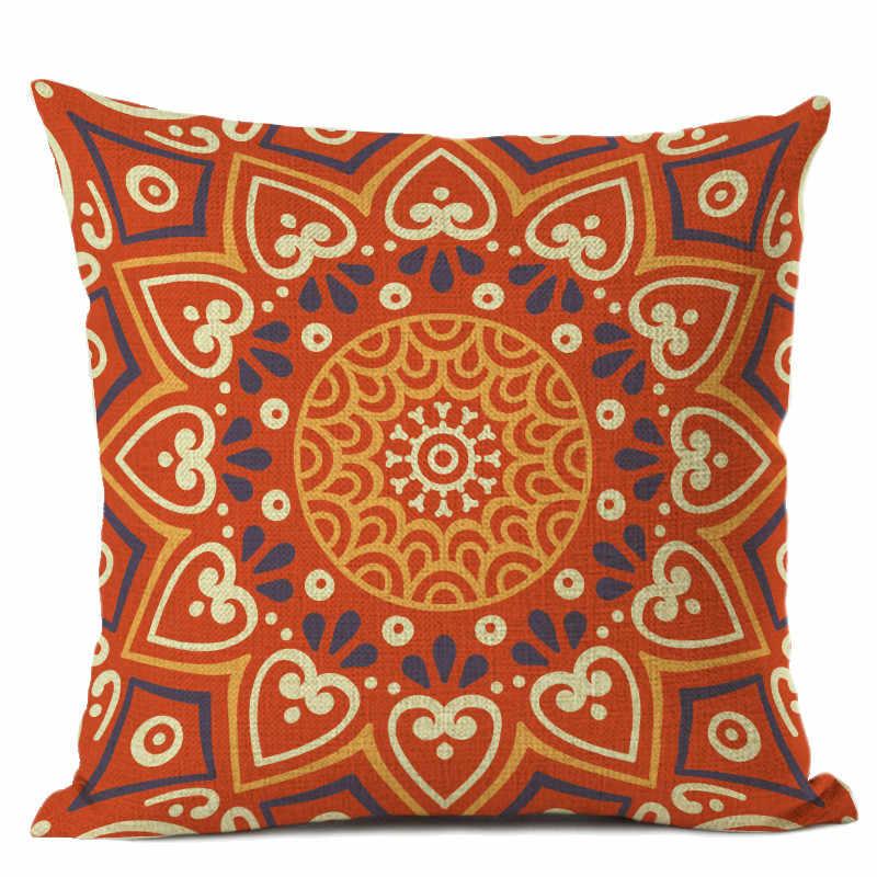 European Style Decorative Cushion Cover Meditation Pillow Ethnic Buddism Floor Cushion Boho Mandala Pillow Cases 45x45cm