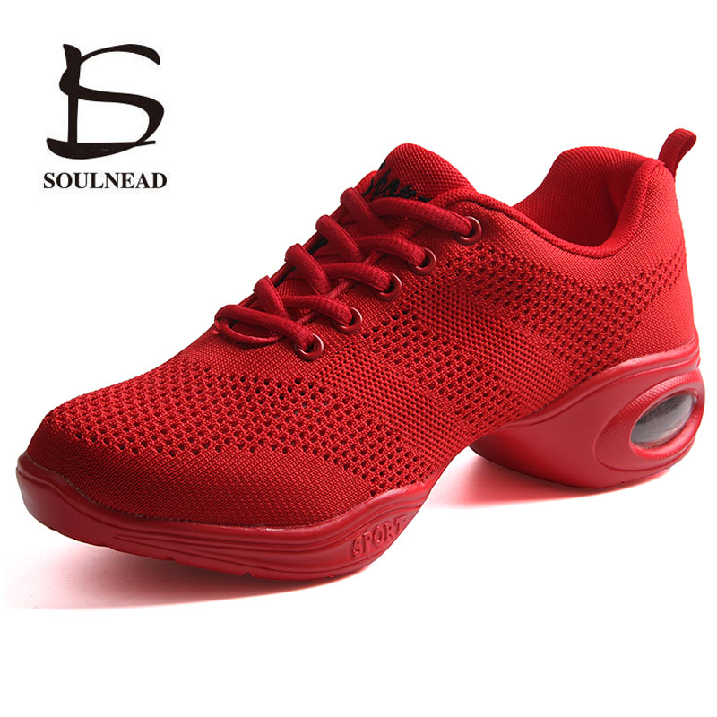 Image 5 - Dance Sneakers For Woman Jazz Dance Shoes Mesh Ventilation Practice Dance Sneaker Lady Modern Dancing Shoe Womens Sports Shoes-in Dance shoes from Sports & Entertainment on AliExpress