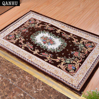 QANHU Retro high density jacquard carpet non slip door mat in absorbing water washable decorative fabric MATS