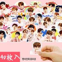 Photo-Albums Boys Exo Decorative-Sticker/diy-Craft Creative Cute 40pcs Q-Version Pretty