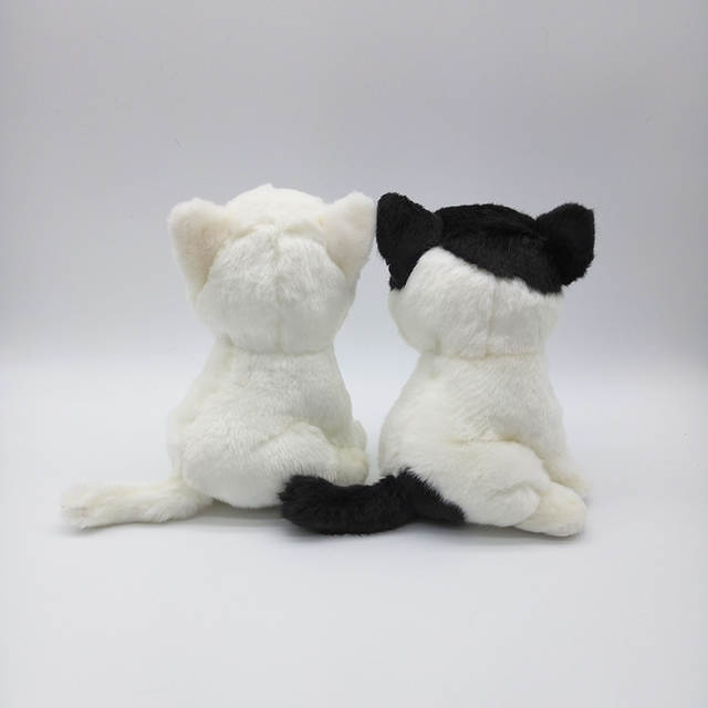 Online Shop 18cm Simulation White Cat Stuffed Toys Kawaii White