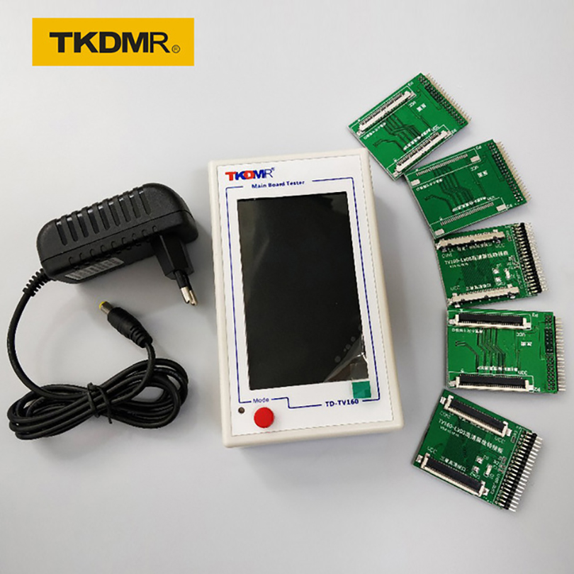 TKDMR Novo TV160 Full HD LVDS VGA Vez (LED/LCD) TV Mainboard Tester Ferramentas Converter (Versão Display) Com Cinco Placa Adaptadora