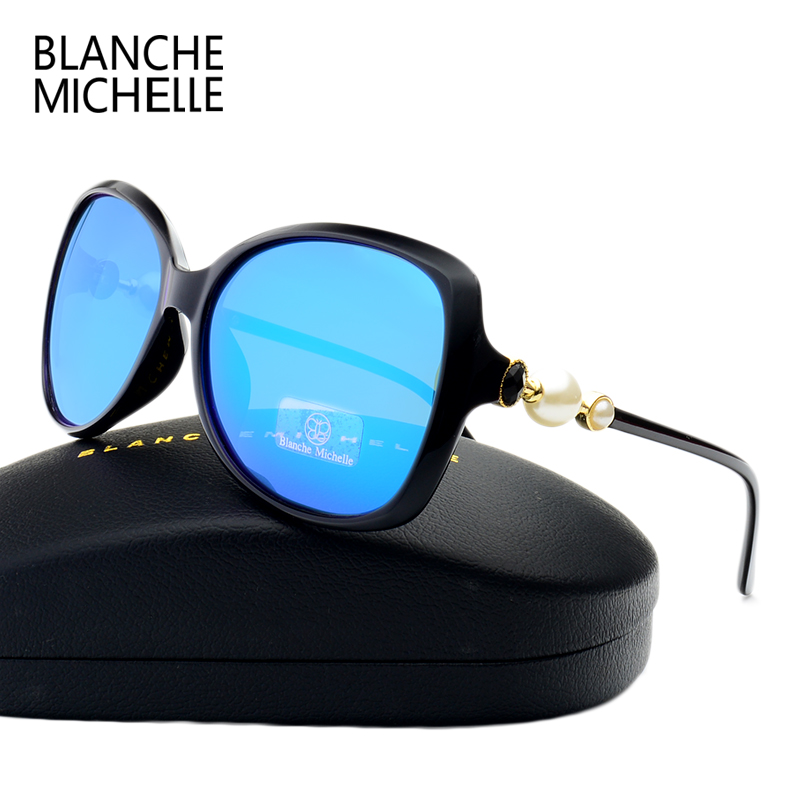 Fashion High Quality Butterfly Pearl Sunglasses Women Mirror Polarized UV400 Sun Glasses Brand Designer 2017 With Original Box 3
