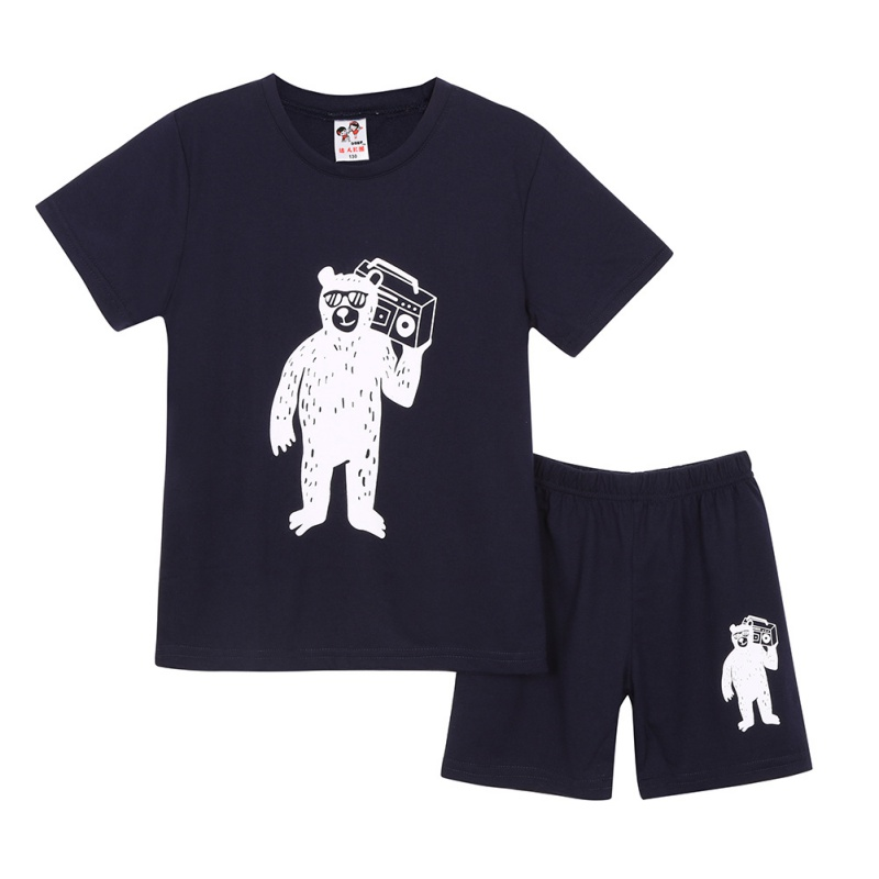 Summer Children Set Baby T Shirt Tops Pants Cotton Short Sleeve Kids Girl Boys Clothes Print Pullover O-Neck Tees Trousers hot sale 2016 kids boys girls summer tops baby t shirts fashion leaf print sleeveless kniting tee baby clothes children t shirt