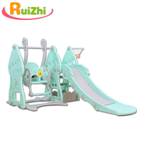Ruizhi Children Cartoon Slide Swing Set Indoor Family Kindergarten Baby Playground Multi Functional Kids Toys Gifts RZ1086
