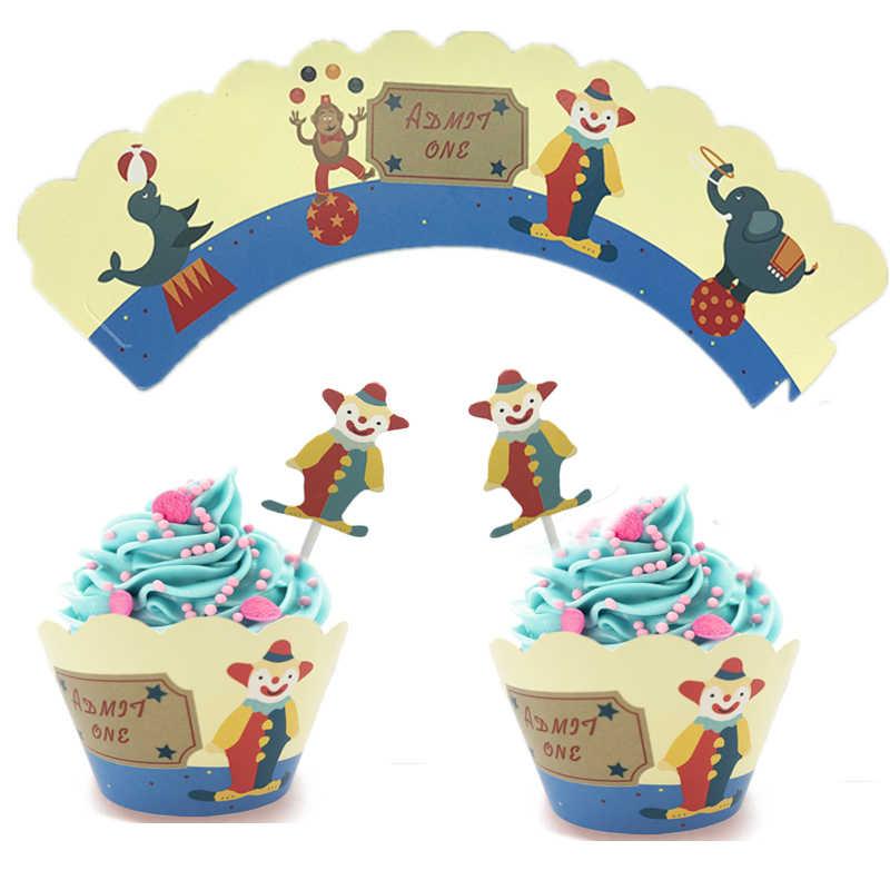 Omilut фон с изображением цирка Декор цирк вечеринка в честь Дня рождения одноразовые поставки цирк сувениры для ребенка цирк материалы для украшения тортов
