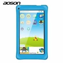 Высокое качество 7 дюймов дети tablet pc AOSON M751-S Android 5.1 Quad Core AllWinner A33 IPS 1024*600 1 ГБ Оперативная память 8 г Встроенная память WI-FI двойной Камера